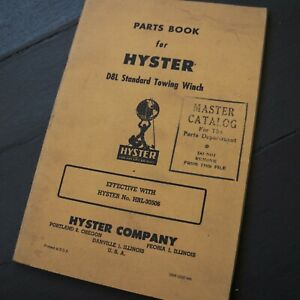 Hyster D8l Tractor Towing Winch Owner Operator Parts Manual Book Crawler Book
