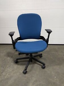 Steelcase 46296179 Leap Plus Upholstered Work Office Desk Chair In Royal Blue