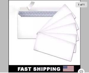 60 Peel And Self seal White Letter Mailing Envelopes Security 4 1 8 X 9 1 2 No10