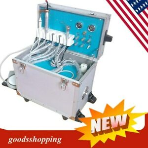 Dental Portable Delivery Unit System Rolling Case Curing Light ultrasonic Scaler