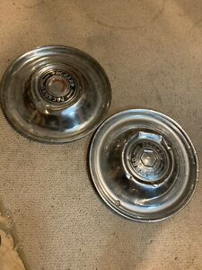 1951 54 Packard Hub Caps Free Shipping Man Cave Pair
