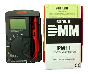 Sanwa Digital Multimeters Pocket Type Tough But Compact Dmm 4000 Count Pm11