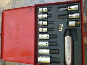 Snap On Tool Pit 160 1 2 Drive 12 Piece Hand Impact Driver Set Usa 50th Ann