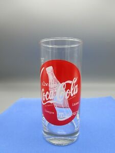 Vintage Coca Cola Glass with German and English ALWAYS Sayings in red Circle