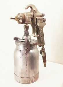 Vtg Snap On Bf500 Paint Spray Gun W Can Canister 1980s Usa