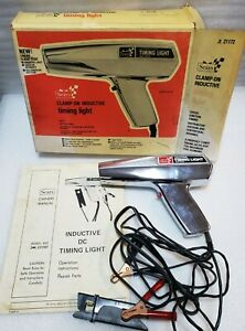 Vintage Sears Clamp On Inductive Timing Light 244 21172 In Original Box Vg