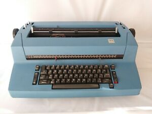 Authentic 1960 70s Ibm Selectric Ii Vintage Correcting Electric Typewriter Blue