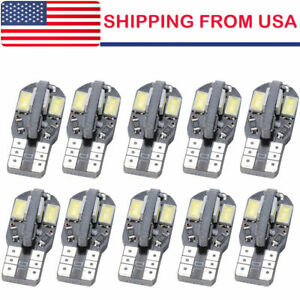 10x Canbus T10 194 168 W5w 5730 8 Led Smd White Car Side Wedge Light Lamp Usa
