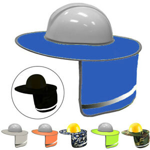 New Construction safety Hard Hat Neck Shield Helmet Sun Shade Reflective Cover