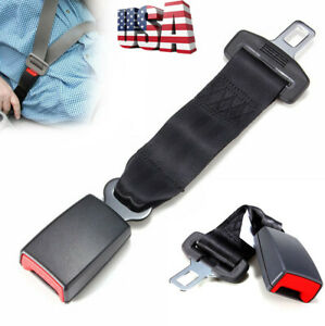 14 Car Seat Seatbelt Safety Belt Extender Extension Adjustable Buckle Black Us