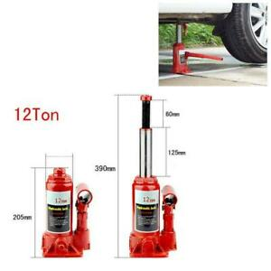 12 Ton Hydraulic Bottle Jack Truck Cars Emergency Repair Lift Stands Tool