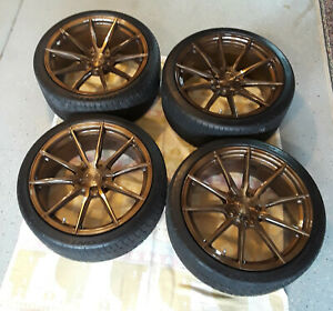 19 Vertini Wheels Rfs1 1 staggered Set Balanced With Tires Tpms Installed