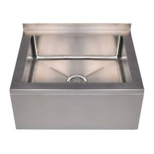 Stainless Steel Commercial Utility Mop Floor Compartment Sink Bowl Nsf 33x25x16