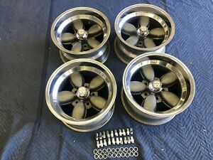 Vintage Set Of 4 American Racing Daisy Style Wheels 15x8 5 Chevy 4 3 4