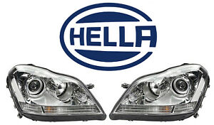 Pair Hella Xenon Headlight Assembies For Mecedes X164 Gl320 Gl450 550 Left Right