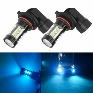 Pair Led Fog Driving Light Bulbs 9005 H10 9145 8000k Ice Blue High Power 100w