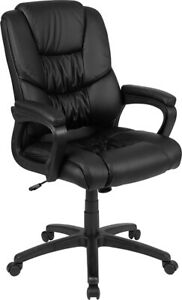 400lb Cap Big Tall Mans Heavy Duty Leathersoft Swivel Tilt Home Office Chair