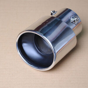 Efie Universal Car Adjustable Chrome Exhaust Muffler Tail Pipe Tip Inlet 59 75mm