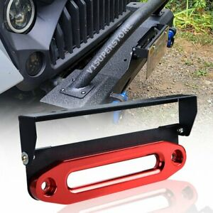 10 Anodized Red Aluminum Fairlead W flip up 254mm Mounting License Plate Holder