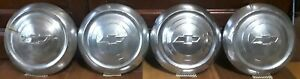Chevrolet Dog Dish poverty Hubcaps Oem Gm Originals Set Of 4 1940 s 50 s