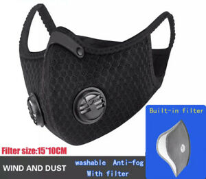 Activated Respiratory Filtered Breathable Mask pollutant Debris Filter Usa