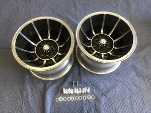 Pair 2 Polished 15x10 Vector Style Wheels Chevy 4 3 4 Chevy Van Nice