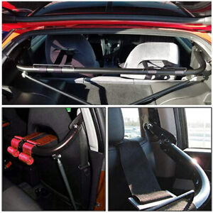 Universal Harness Bar Stainless Steel Racing Safety Seat Belt Roll Rod Bar Red