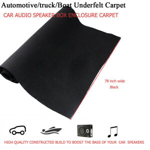 Car Carpet Trunk liner Marine Boat Under felt Upholstery Replace Black 78 x 40