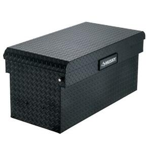 Chest Truck Tool Box Matte Black Aluminum Full Size Durable Rubber Weather Seal