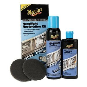 Meguiars Headlight Coating Polish Restoration Kit Clear Car Protection Spray New