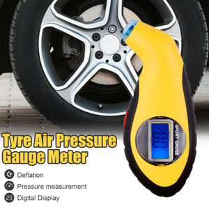Digital Meter Tire Pressure Gauge Lcd Display Screen Electronic Tester Tyre Mini