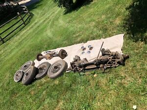 Mg Mgb Wire Wheels 60 Spoke 14 Knock Offs Rear Differential Front Suspension