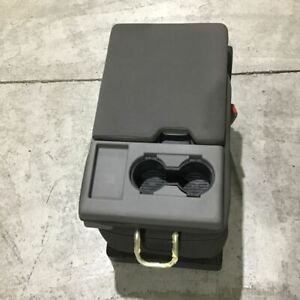 2017 2019 Ford F 250 F 350 Center Jump Seat Gray Cloth Crew Extended Super Cab