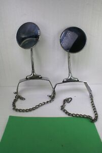 Vintage Pair Spare Tire Mirrors With Mounts Rat Rod 1920 30s