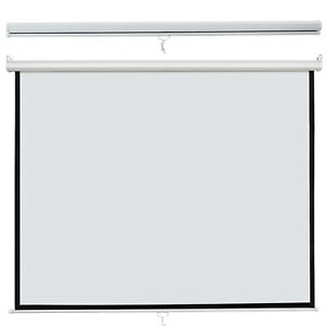 Manual Pull Down Projector Screen 84 X 84 1 1 Format Hd Home Theater