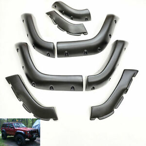 For 1984 2001 Jeep Cherokee Xj Fender Flares 6 Wide 8 Pc Pocket Style Protector
