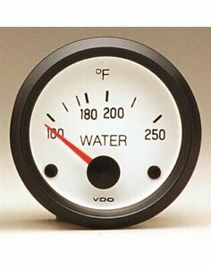 Vdo Cockpit White Electrical Water Temperature Gauge 2 1 16 Dia White Face