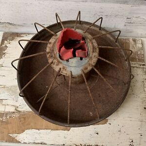 Vintage Primitive Industrial Metal Chicken Feeder