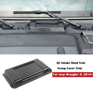 Exterior Black Air Intake Hood Vent Scoop Cover Trim For Jeep Wrangler Jl 18 20