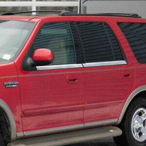 1996 2002 Ford Explorer Stainless Steel Chrome Window Sill Trim Accent 4pc