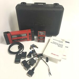 Snap On Mt2500 Diagnostic Automotive Scanner Bundle With Cartridges Manuals Keys
