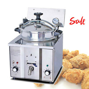 Sale 2400w 16l Electric Pressure Fryer Ceramic Heater Stainless Steel F Chicken