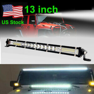 13inch Single Row Slim Offroad LED Work Light Bar for Truck SUV ATV 200W Light