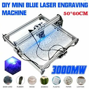 Cnc 5065 Blue Laser Engraving Machine 2 Axis Engraver Wood Router Cutter Printer