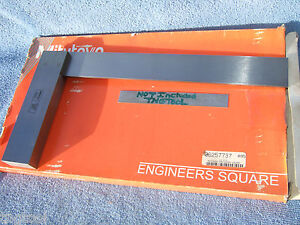 Mitutoyo 916 595 Engineer 12 Master Square Machinist Toolmaker Inspect Lay out