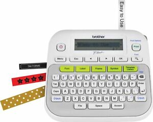 Brother P touch Pt d210 Handheld Label Maker White gray