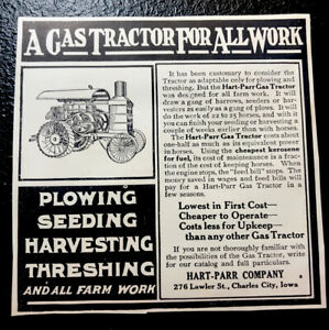 1911 Hart-Parr Co. Gas Tractor Farm Advertising - Charles City - Iowa