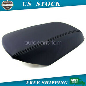 2011 2018 Ford Explorer Leather Center Console Lid Armrest Cover Skin Black