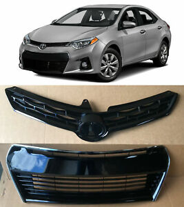 Front Upper Lower Bumper Grill Grille 2pcs For 2014 2015 2016 Toyota Corolla S