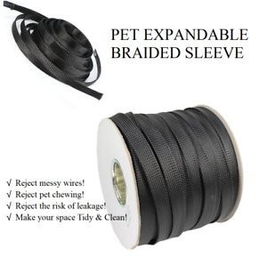 Wire Loom Sleeves expandable Braided Wire Cable Sleeve cord Protector organizer